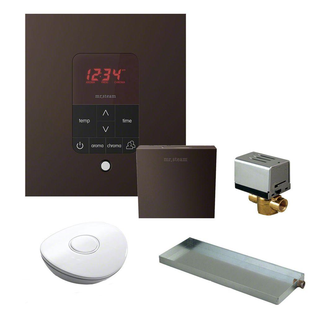 Mr. Steam MS Butler Package with iTempo Plus Square Programmable Control for Steam Bath Generator in Oil Rubbed Brass