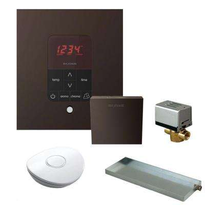 MS Butler Package with iTempo Plus Square Programmable Control for Steam Bath Generator in Oil Rubbed Brass