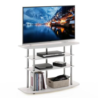 Frans 41 in. White Oak Turn-N-Tube 4-Tier TV Stand Fits TV's up to 46 in.