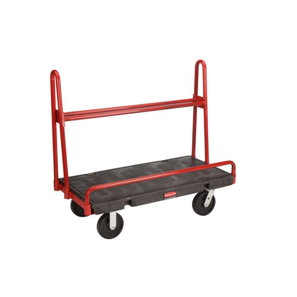Rubbermaid Commercial Products 2000 lb. Capacity Black A-Frame Panel Truck