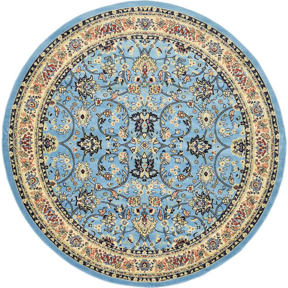 Red And Turquoise Rug Area Sophisticated Awesome Rugs In: Unique Loom Kashan Light Blue 8 Ft. X 8 Ft. Round Area Rug