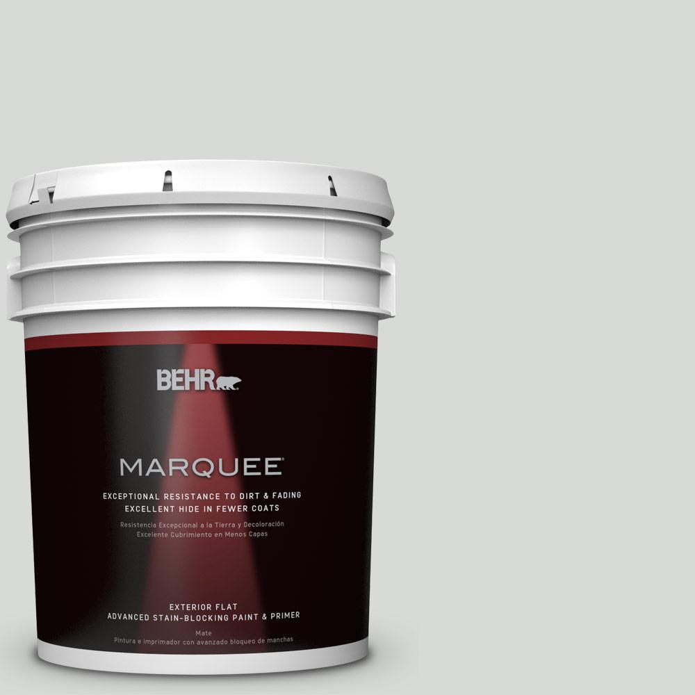 BEHR MARQUEE 5-gal. #N460-1 Evening White Flat Exterior Paint