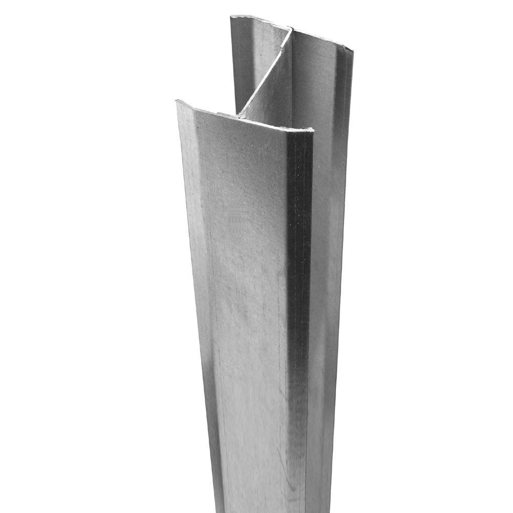 5 in. x 5 in. x 106 in. Aluminum Insert Fence Post Insert
