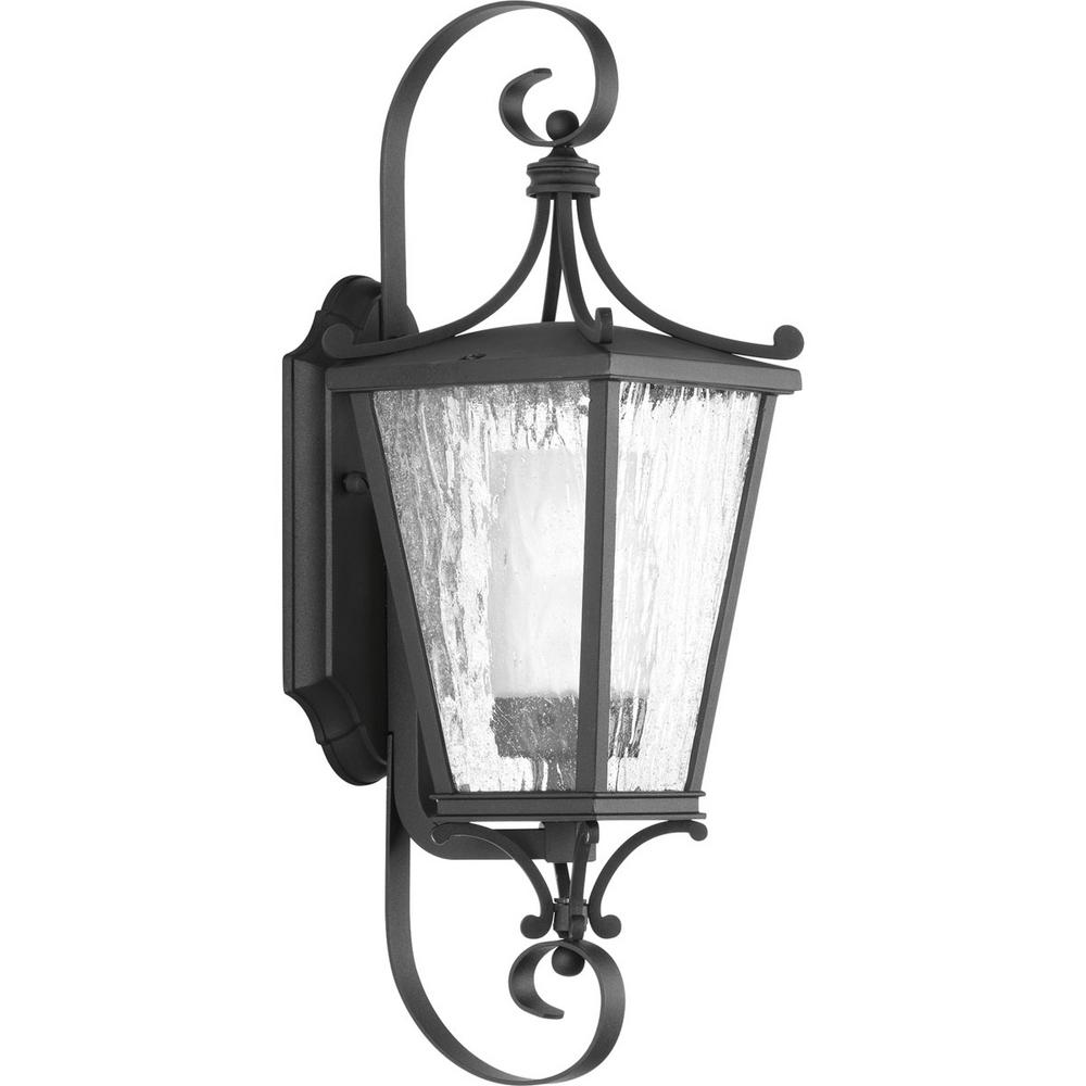 Cadence Collection 1-Light Outdoor 6.125 Inch Black Wall Lantern