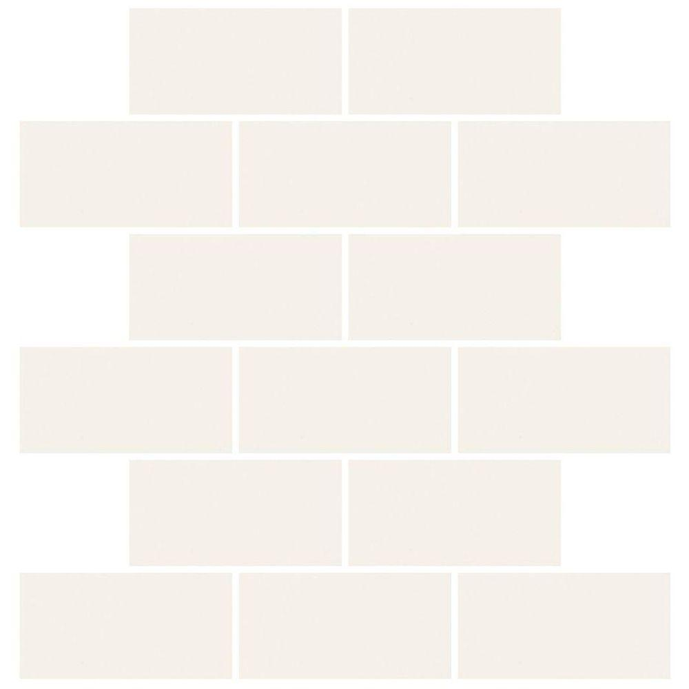 Daltile Rittenhouse Square White 12 In X 8 Mm Ceramic Mosaic