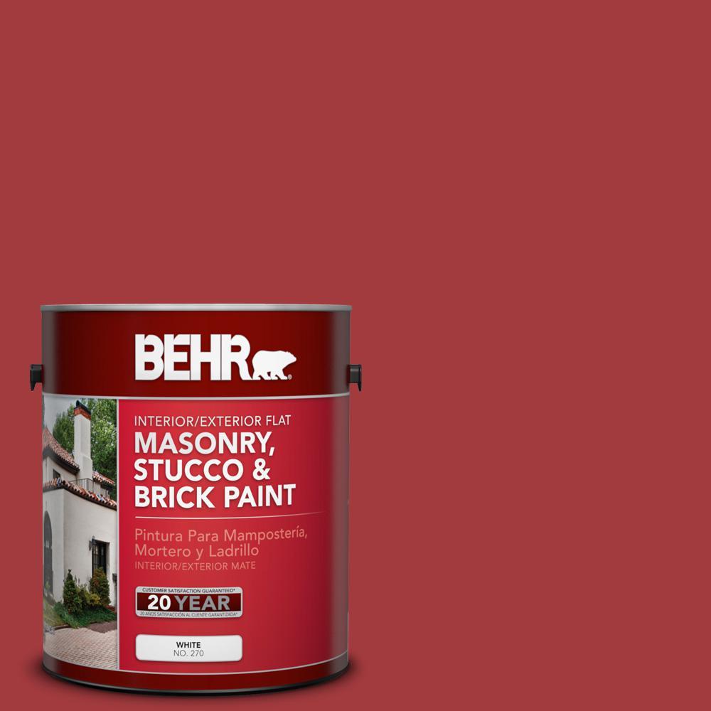 1 gal. #PFC-02 Brick Red Flat Interior/Exterior Masonry, Stucco and Brick Paint