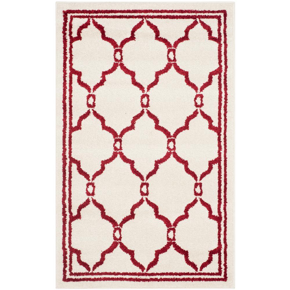 Safavieh Amherst Ivory/Red 3 ft. x 4 ft. Indoor/Outdoor Area Rug