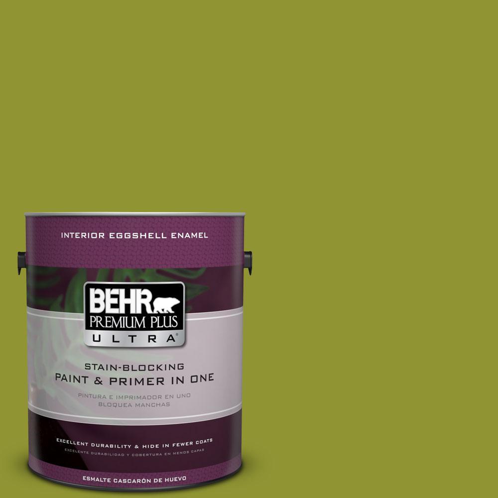 BEHR Premium Plus Ultra 1-gal. #S-H-410 Appletini Eggshell Enamel Interior Paint