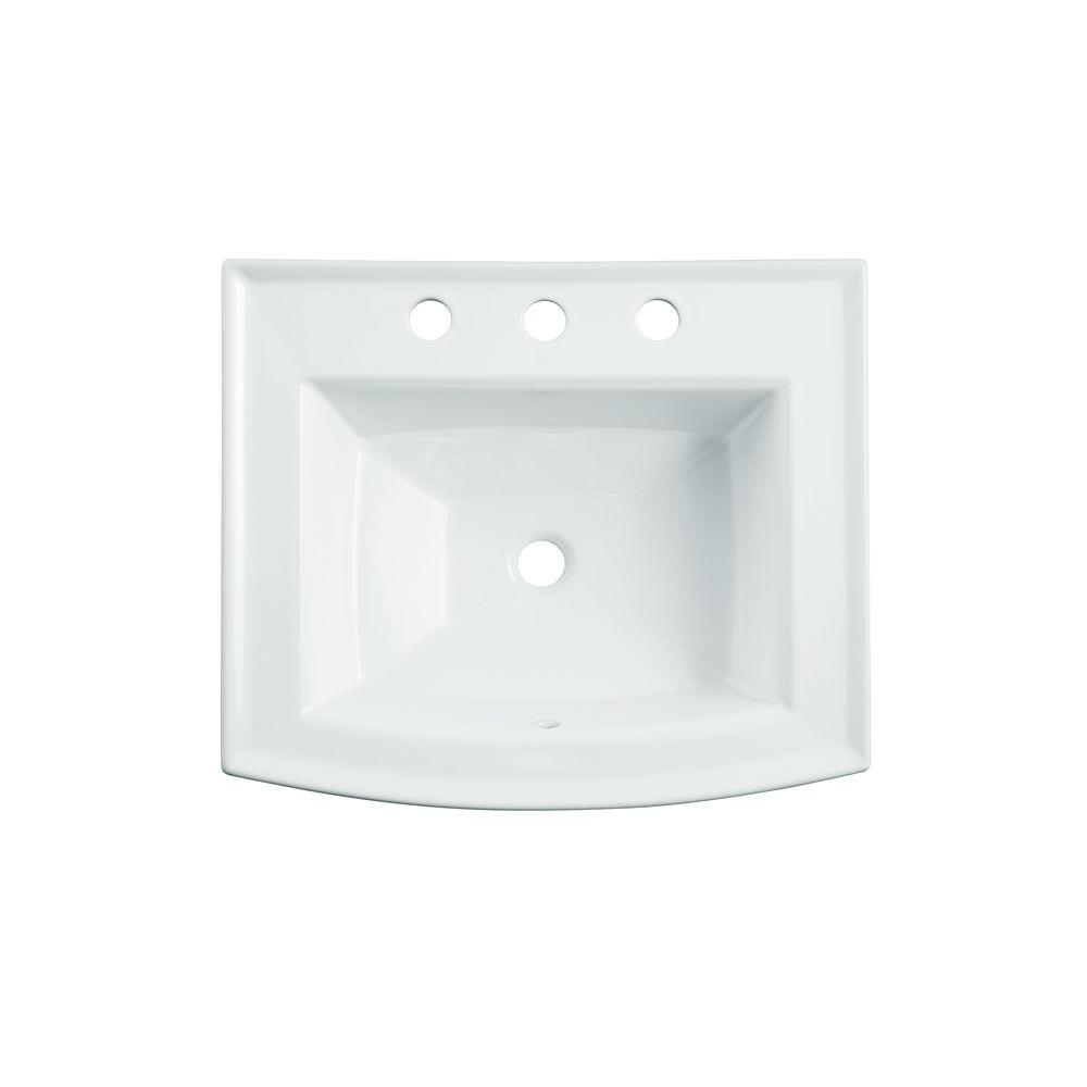 Archer Drop In Vitreous China Bathroom Sink in White with Overflow Drain. Rectangle   Drop in Bathroom Sinks   Bathroom Sinks   The Home Depot