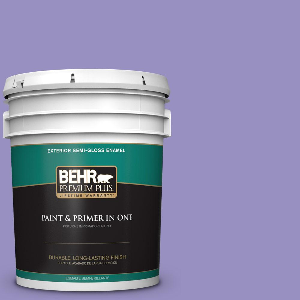5 gal. #PPU16-05 Lily of the Nile Semi-Gloss Enamel Exterior Paint