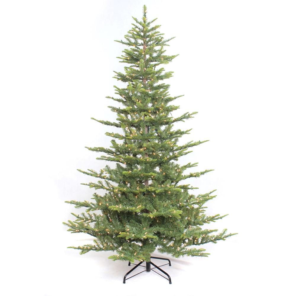 4.5 ft. Pre-Lit Incandescent Aspen Green Fir Artificial Christmas ...