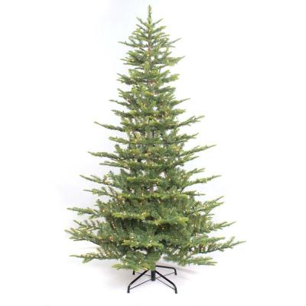 4.5 ft. Pre-Lit Incandescent Aspen Green Fir Artificial Christmas Tree with 250 UL Clear Lights