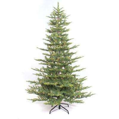 4.5 ft. Pre-Lit Incandescent Aspen Green Fir Artificial Christmas Tree with 250 UL Clear Lights