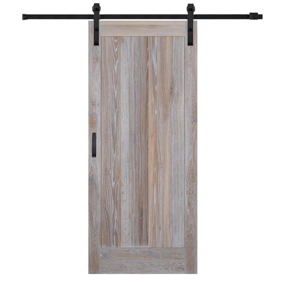 Mmi Door 36 In X 84 In Rustic White Oak Flat Panel