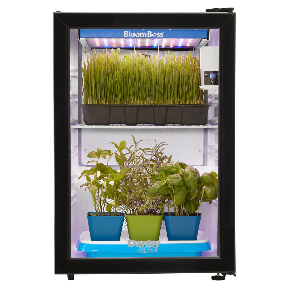 Led Kitchen Garden Year Around Counter Top Culinary Herb: Danby 2.6 Cu. Ft. Herb Grower With 16-Watt LED BloomBoss