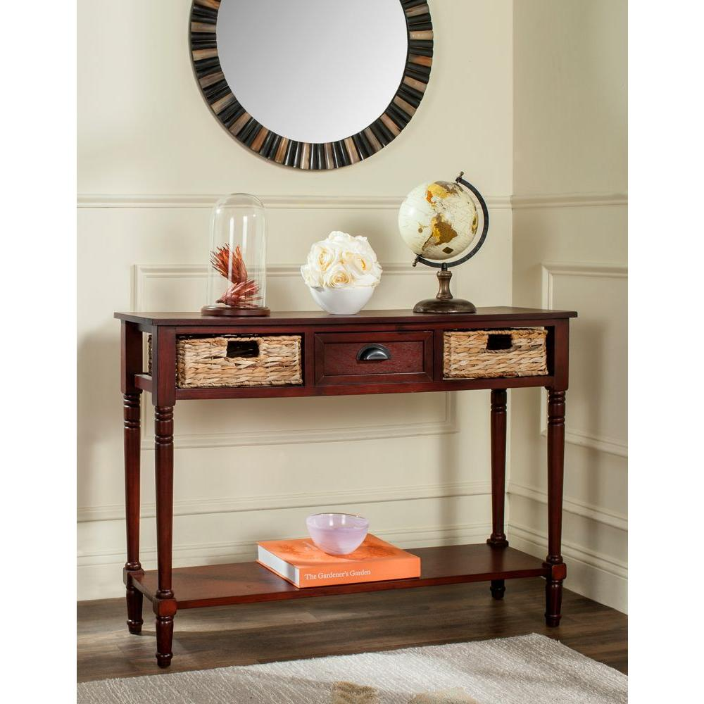 Christa Cherry Storage Console Table