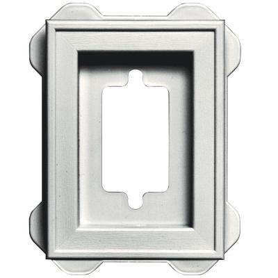 4.5 in. x 6.3125 in. #123 White Recessed Mini Mounting Block