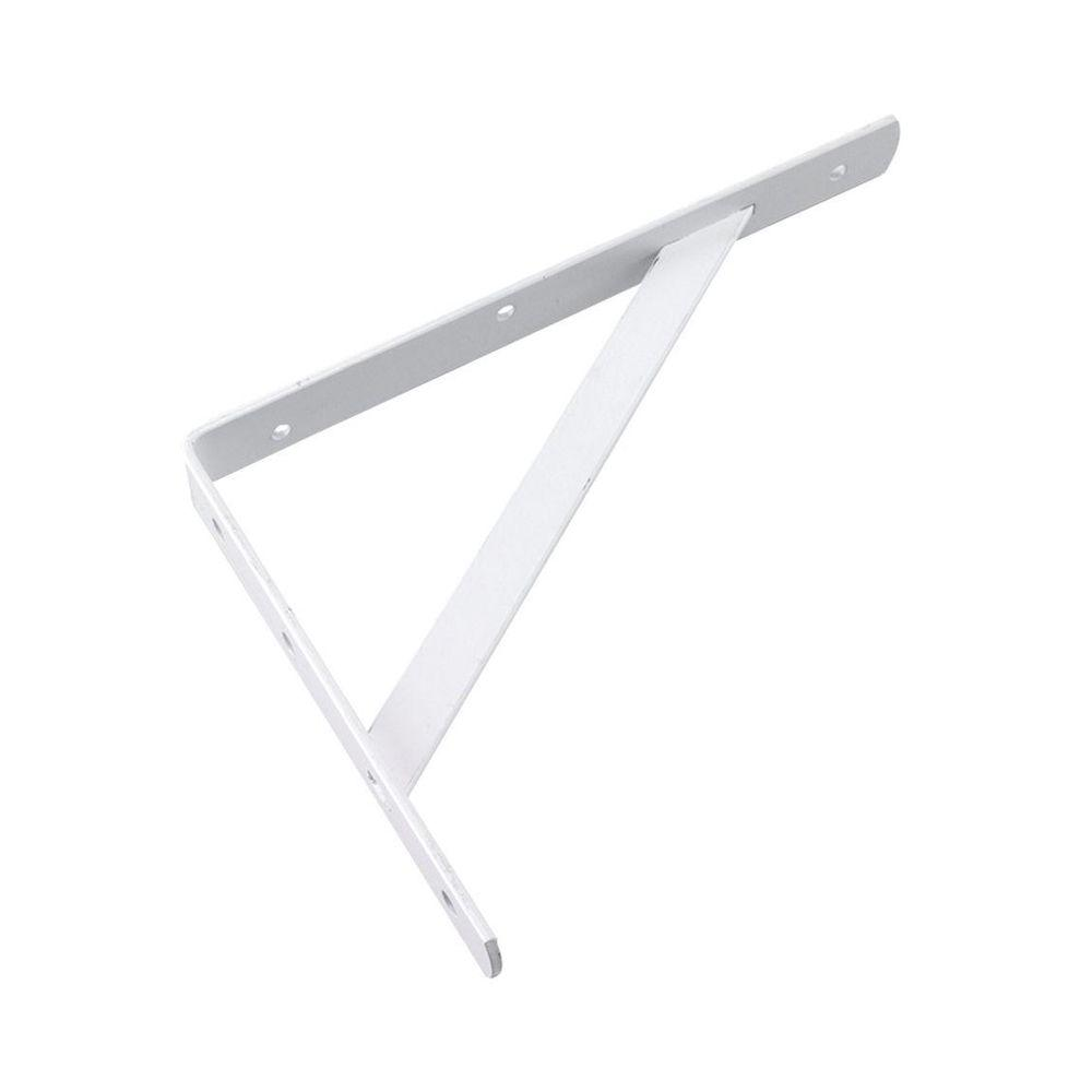 White Heavy Duty Shelf Bracket  sc 1 st  Home Depot & Richelieu Hardware 20 in. White Heavy Duty Shelf Bracket-494W20B ...
