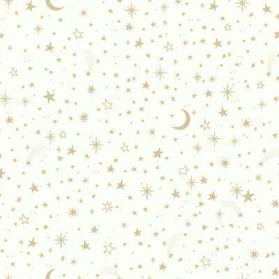 28.18 sq. ft. Twinkle Little Star Gold Peel and Stick Wallpaper