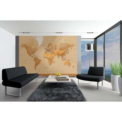 144 in. H x 100 in. W The World Wall Mural