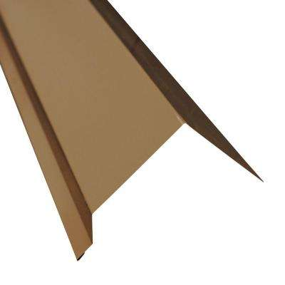 3.5 in. x 10.5 ft. Eave Molding Drip Edge Flashing in Burnished Slate