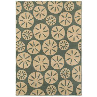 Sand Dollars Slate 5 ft. 3 in. x 7 ft. 6 in. Area Rug