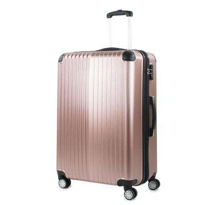 Melrose 25 in. Rose Gold Polycarbonate Expandable Spinner Luggage with TSA Lock and Corner Guards