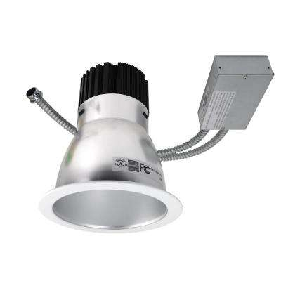 NICOR 8 in. Satin (3500K) Commercial LED Recessed Downlight Retrofit Kit with 2890 Lumens