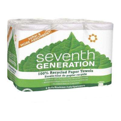 11 in. x 5.40 in. Recycled Paper Towels 2-Ply (6-Pack)
