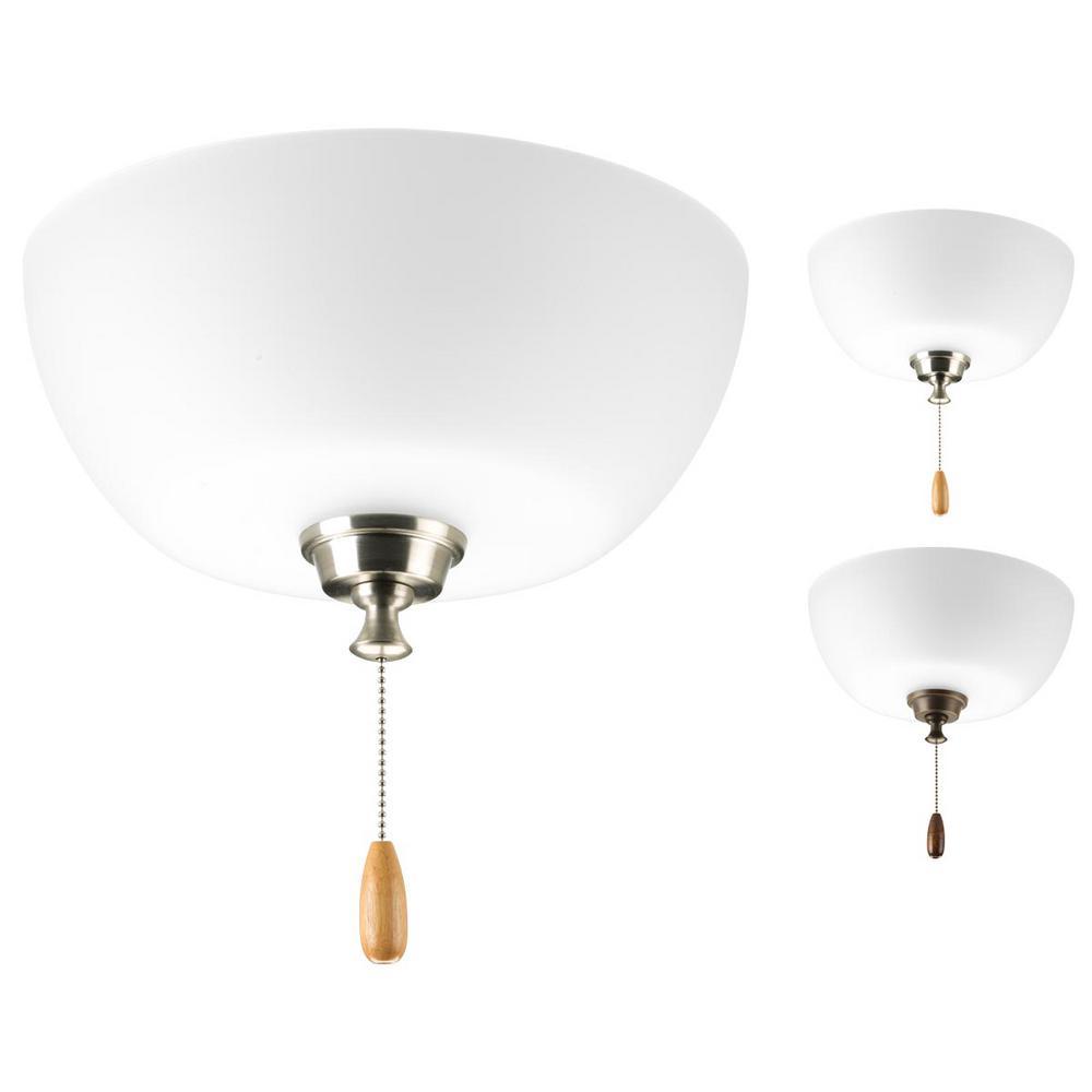Wisten collection 2 light unfinished ceiling fan light kit