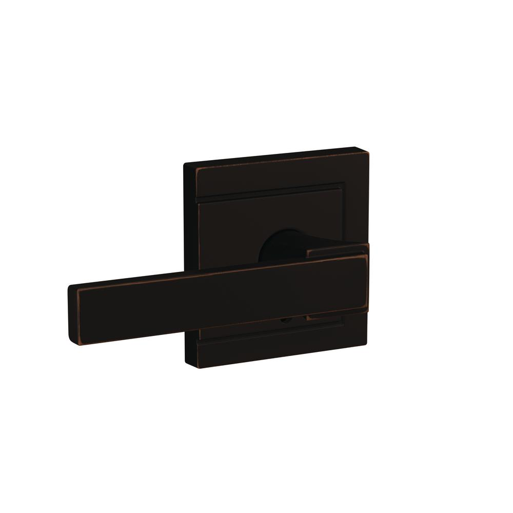 Schlage Custom Northbrook Aged Bronze Upland Trim Combined