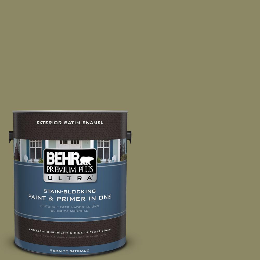 BEHR Premium Plus Ultra 1-gal. #PPU9-23 Oregano Spice Satin Enamel Exterior Paint