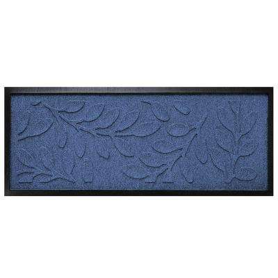 Navy 15 in. x 36 in. Brittany Leaf Boot Tray
