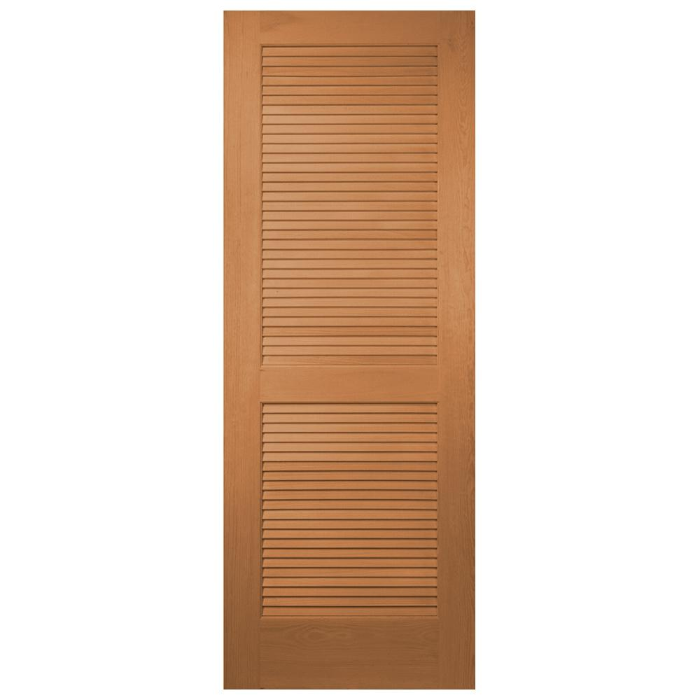 Masonite 24 in x 80 in unfinished full louver solid core for Www masonite com interior doors