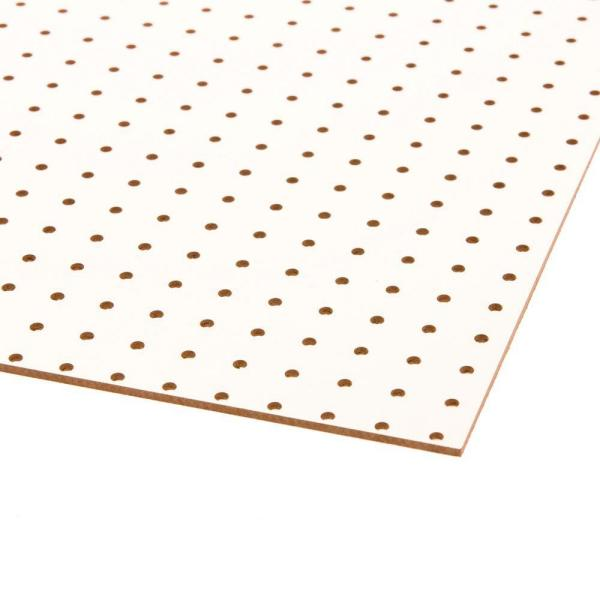 White Peg Board (Common: 3/16 in. x 2 ft. x 4 ft.; Actual: 0.165 in. x 23.75 in. x 47.75 in.)
