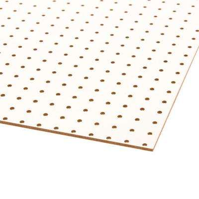 48 in. H x 24 in. W White Pegboard
