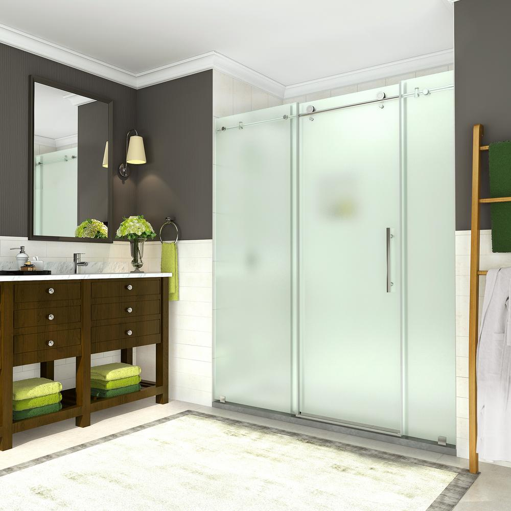 Coraline 68 - 72 in. x 76 in. Completely Frameless Sliding