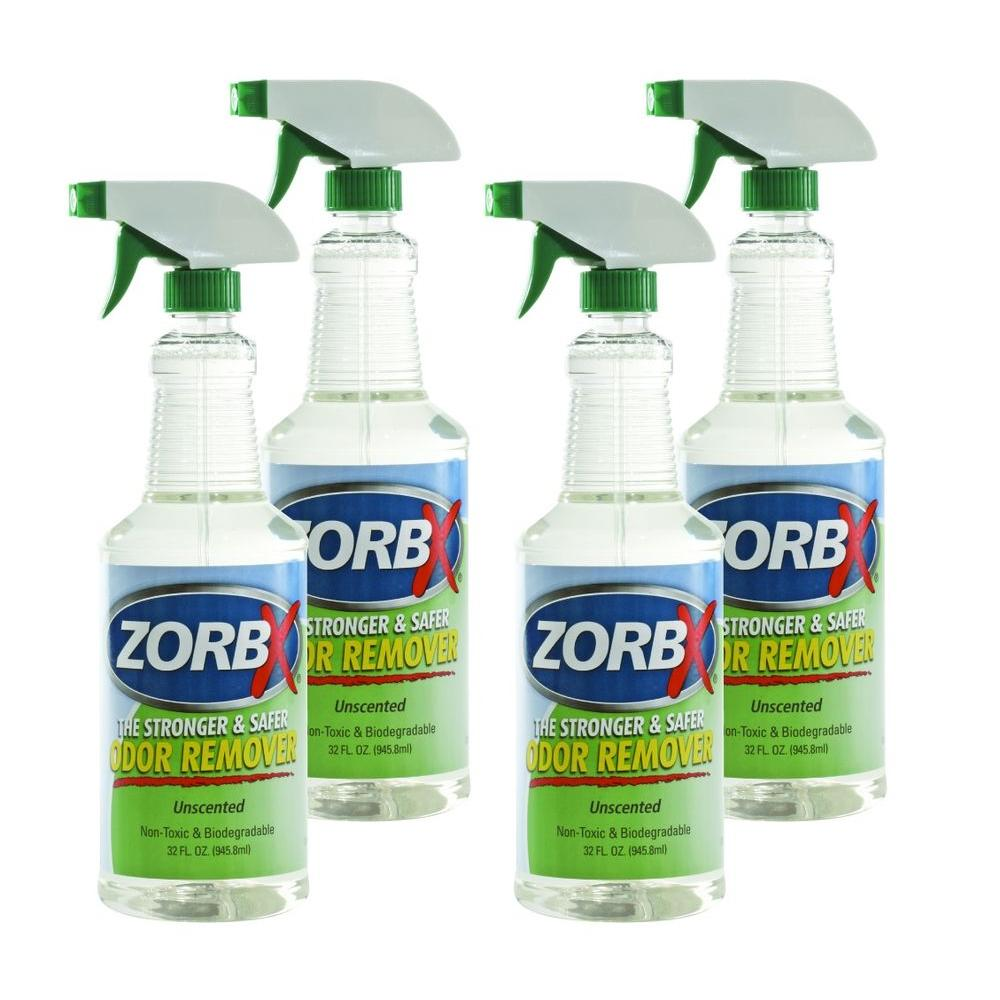 zorbx 32 oz unscented odor remover 4 pack 1140 4 the