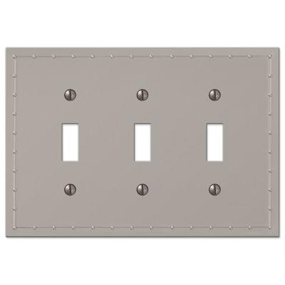 Rosa 3 Gang Toggle Metal Wall Plate - Satin Nickel