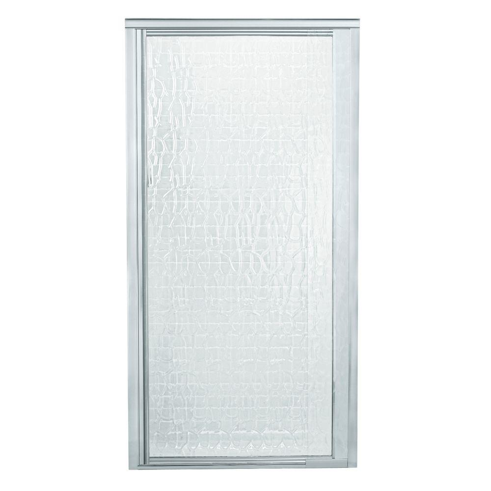 STERLING Vista Pivot II 42 in. x 65-1/2 in. Framed Pivot Shower Door in Silver-DISCONTINUED