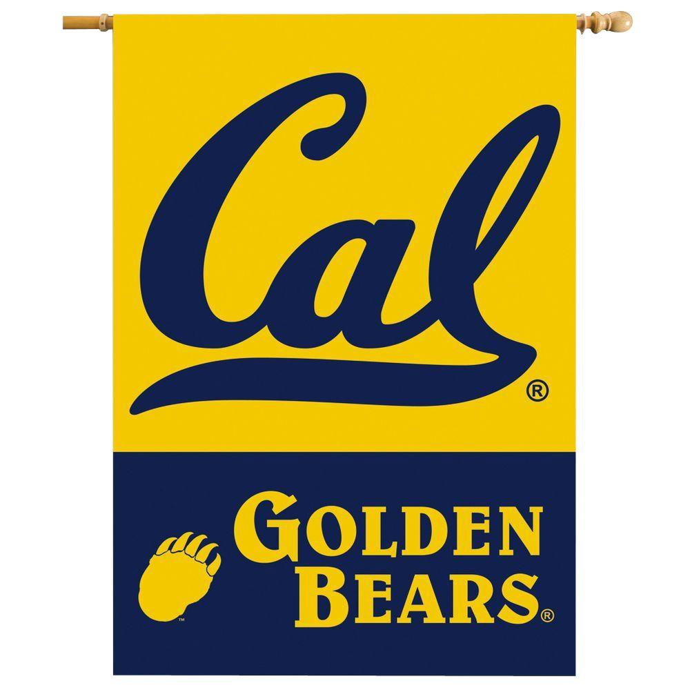 BSI Products NCAA 28 in. x 40 in. Cal Berkeley 2-Sided Banner with Pole Sleeve