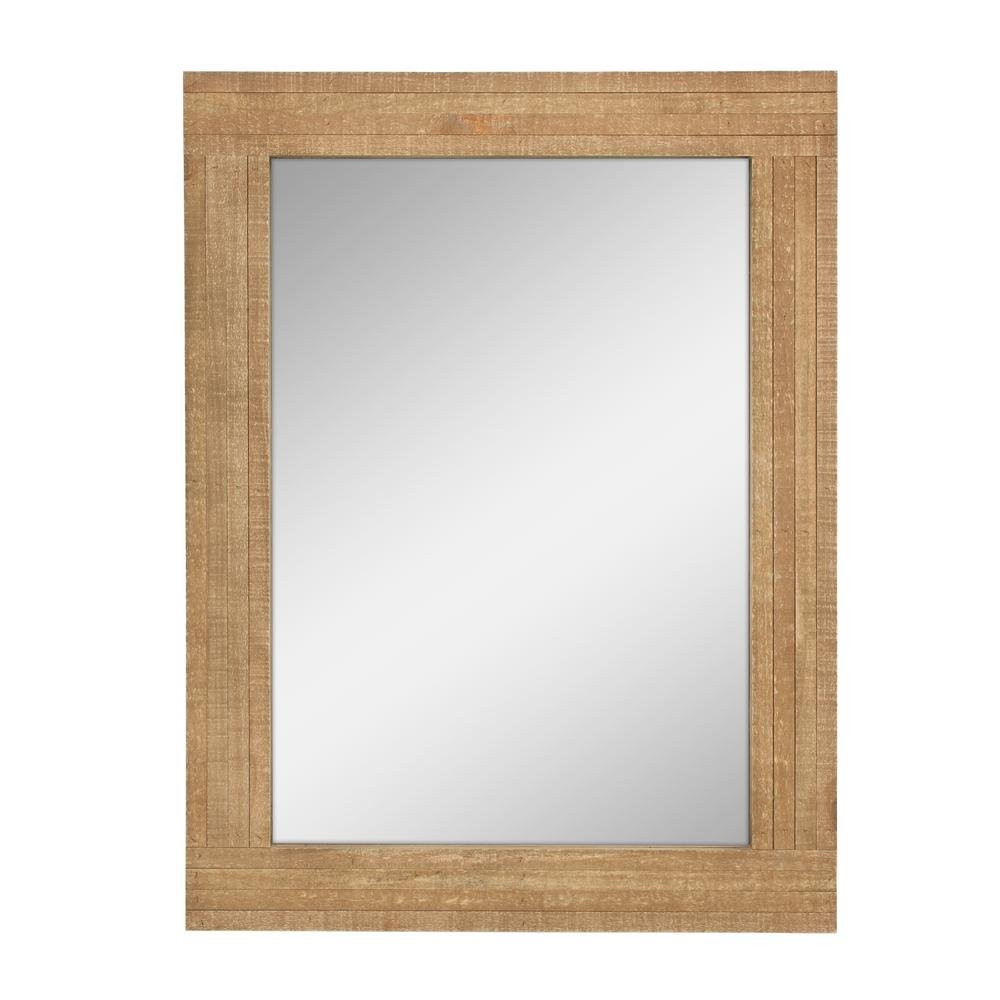 StonebriarCollection Stonebriar Collection Rectangle Worn Wood Decorative Wall Mirror