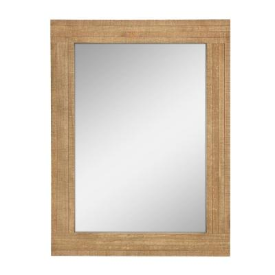 Rectangle Worn Wood Decorative Wall Mirror