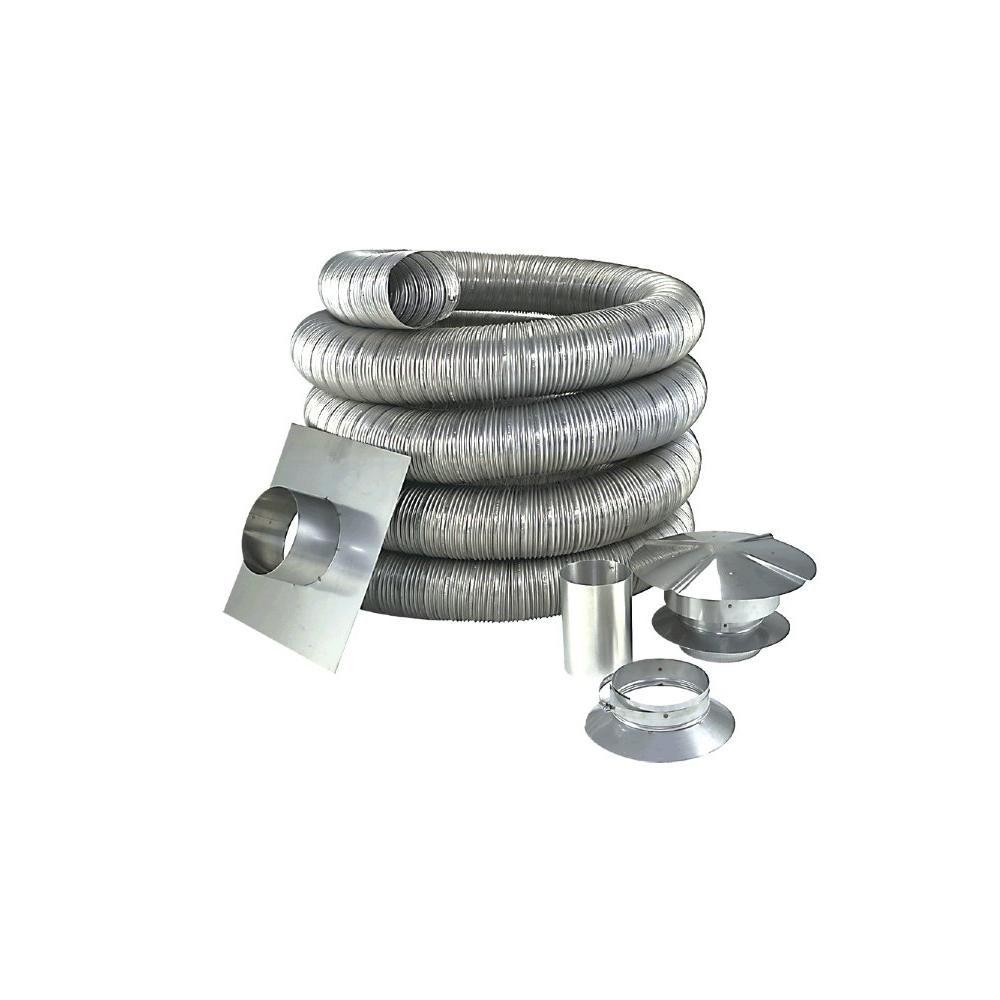 Z Flex 5 In X 35 Ft Stainless Steel Oil Liner Kit