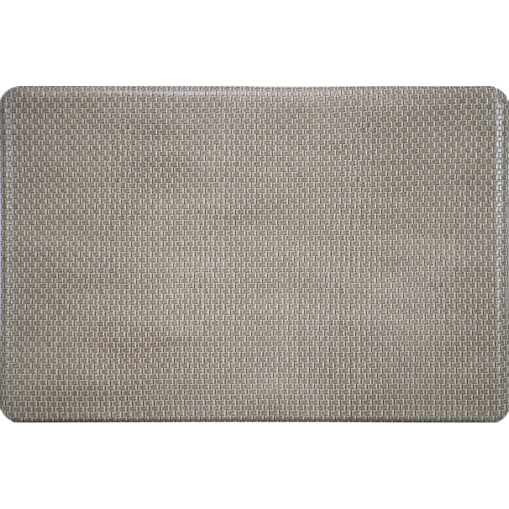 Apache Mills Basketweave Beige 20 In. X 36 In. Foam Mat