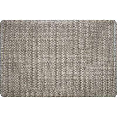 Basketweave Beige 20 in. x 36 in. Foam Mat