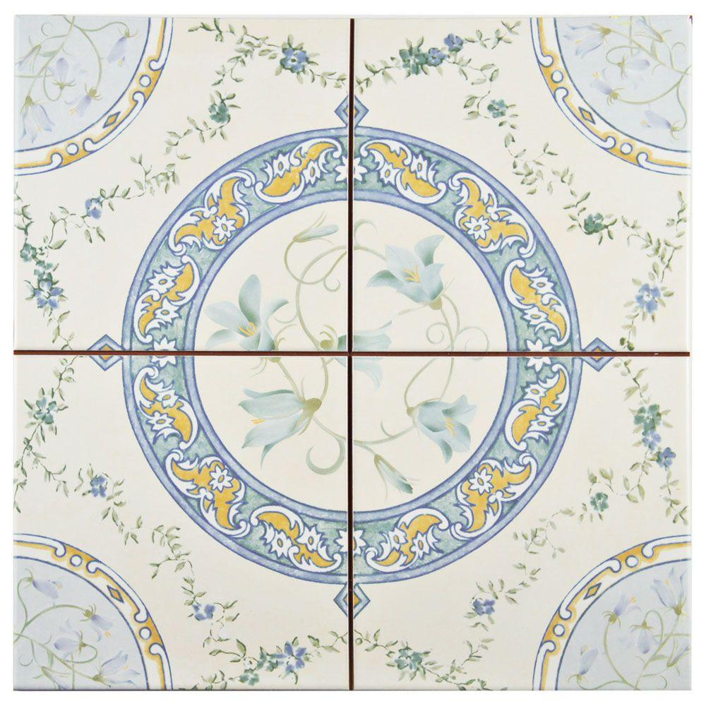 Merola tile victorian rian 13 in x 13 in ceramic floor and wall merola tile victorian rian 13 in x 13 in ceramic floor and wall tile dailygadgetfo Gallery