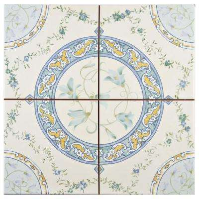Victorian Rian 13 in. x 13 in. Ceramic Floor and Wall Tile (12.3 sq. ft. / case)