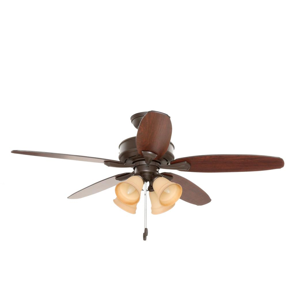 Hunter Hd 53327 52 In Indoor Bronze Lighted Ceiling Fan The Light Kit Wiring Diagram Further New With