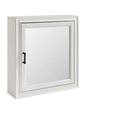 Tara 23.75 in W x 26 in H x 7.5 in. D Surface Mount Medicine Cabinet in White